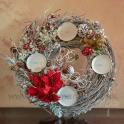 Adventný veniec Vianočná hviezda white 34cm