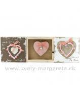Obrázok Vintage Trio srdce 3D 30cm