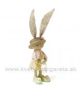 Dievčatko zajačik v klobúčiku 30cm