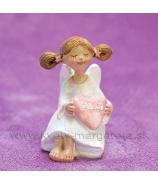 Anjelik sediaci Srdce Z lásky 7cm