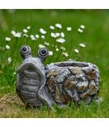Slimák s ulitou záhradná keramika 31cm