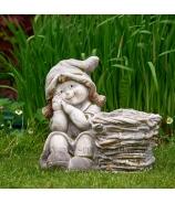 Dievčatko s košíkom záhradná dekorácia obal 34cm