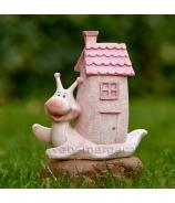 Slimáčik s domčekom rúžový 13cm