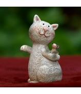 Kocúr s kámoškou myškou 10.5 cm