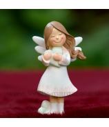 Anjelik so zeleným srdcom snívajúci 9.5cm
