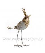 Vtáči princ plechový s korunou 36cm