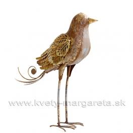 Zlato-hrdzavý vtáčik Steampunk 36cm