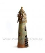 Vtáčia búdka Steampunk svietnik hrdzavo-hnedá 52 cm