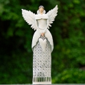 Anjel GRÁCIA svietnik biely 67cm