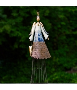 Anjel ZARA svietnik modro-biely 87cm