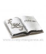 """Pietna kniha  """"Chýbaš nám""""  sivá  9cm"""
