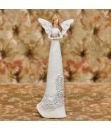 Anjel so srdcom čipkované šaty biely 25cm