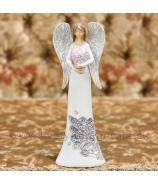 Anjel Frozen Heart bielo-sivý 23cm