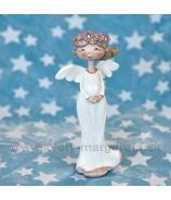 Anjel Amélia so srdcom 15cm krémovy