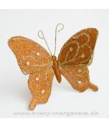 Motýľ trblietavý gliter medený