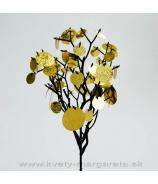 Zápich vetva s flitrami zlato