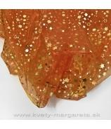 Organza s hviezdami oranžová