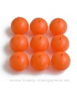 Guľky sviečky 9ks  4,5 cm oranžová