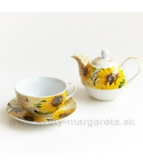 Čajník so šálkou Slnečnice