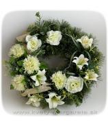 Veniec s laliou, ružou a chryzantémami