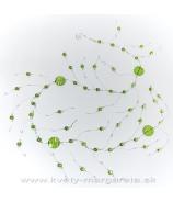 Girlanda pruhované sklíčka zelená