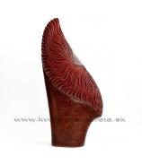 Váza vejár bordovo hnedá 60cm - zľava 50%