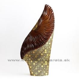 Váza vejár zlato-hnedá 60cm - zľava 50%