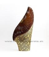 Váza vejár zlato-hnedá 80cm - zľava 50%