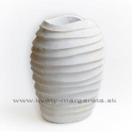 Váza lastúra biela 30cm