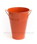 Váza vedro plech 24cm oranžová - zľava 50%