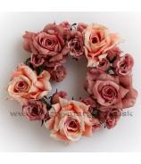 Venček Romantic ruže Salmon Old pink