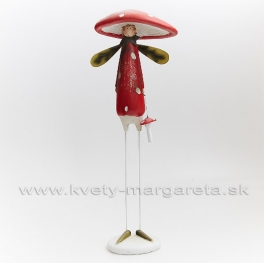 AKCIA ZĽAVA -50% Chlapec muchotrávka placatý klobúk