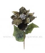 Vianočná ruža Khaki zelená- zľava 50%