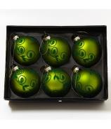 Gule flokované zelené x6