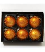 Gule flokované oranžové x6