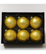 Gule flokované žlté x6