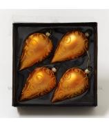 Slzy flokované oranžové x4