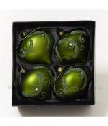Cibulky glitrované zelené x4