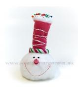 Hlava snehuliak s cukrovým klobúkom