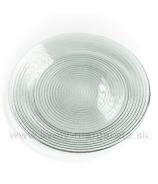 Sklenený tanier číry vrúbkovaný