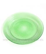 Sklenený tanier zelený vrúbkovaný