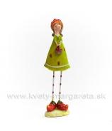 Dievčatko s obutými jahôdkami