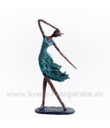 Deva tancujúca vo vetre - medenka