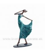 Deva so sukňou Flamenco  medenka