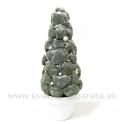 Bonsaj stromček zasnežený kúžel 27cm - zľava 50%