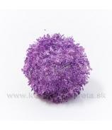 Guľa chlpatá závesná fialová