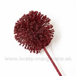AKCIA - ZĽAVA -50% Allium vianočné červené glitter