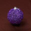 Vianočná gula lupienky fialová 8cm 3ks