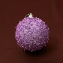 Vianočná guľa lupienky rúžová 8cm 3ks - zľava 40%