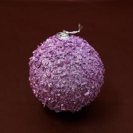 Vianočná guľa lupienky rúžová 10cm 3ks